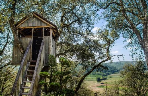 cabane dans un arbre nuit atypique vacances insolites en France