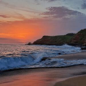 coucher de soleil côte pacifique Mexique
