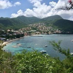Ile aux fleurs plage du bourg Petite Anse d'Arlet