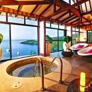 voyage de luxe aux caraïbes bassin privé vue