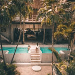 Yucatan Piscine couple hôtel de luxe