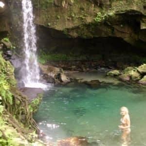 Voyage à la Dominique charme cascade