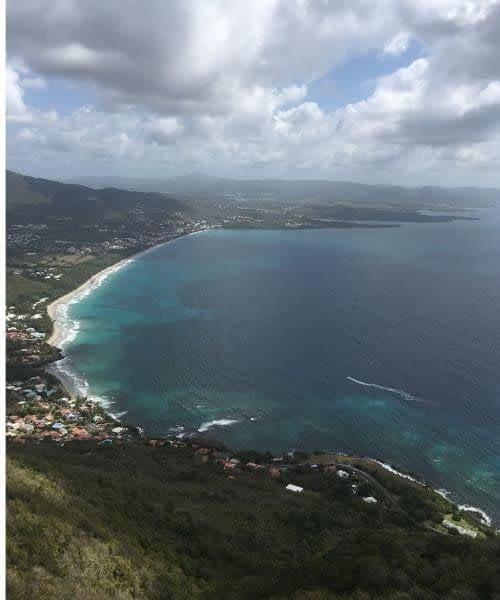 Le Diamant Martinique vue du ciel
