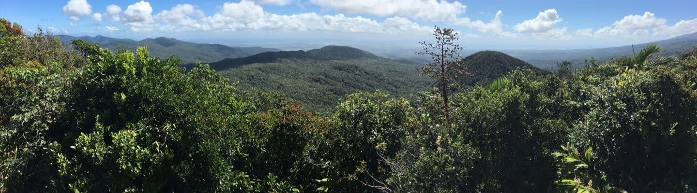 Voyage aux antilles françaises : panorama montagnes Guadeloupe