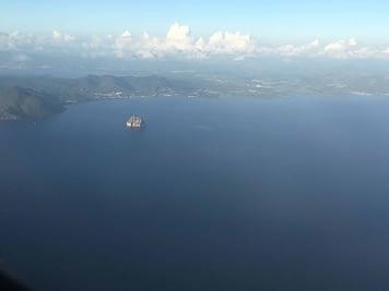 survol des Caraïbes les Antilles vue du ciel sports extrêmes