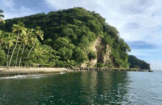 plage paradis Sainte Lucie crique