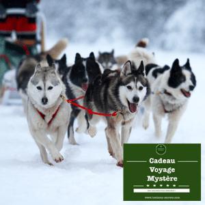 cadeau voyage mystère box surprise week-end chiens de traineaux