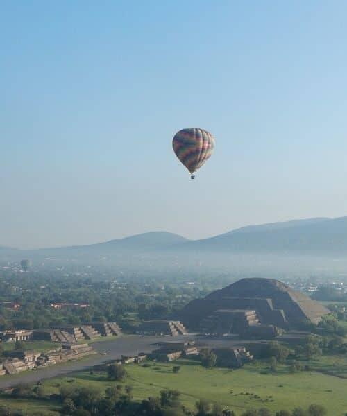 Teotihuacan vol Mexique montgolfière