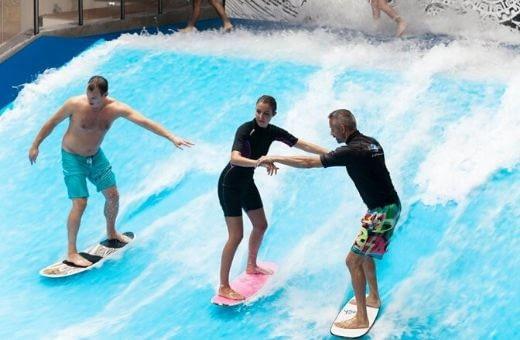 Soirée d'entreprise à bordeaux séminaire original surf indoor